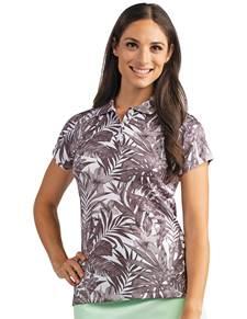 104143 - Women's Tahiti Black/White Multi (Womens Shirts Polo)