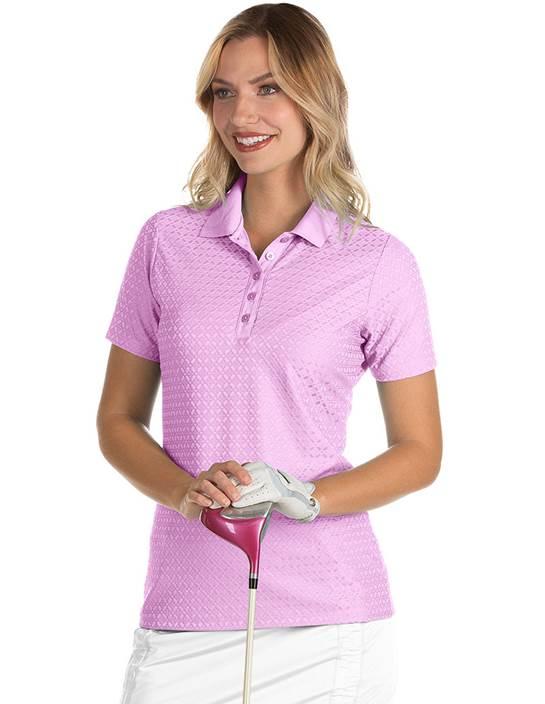 104145-43F - Pearl Women's  Plum (Womens Shirts Polo)