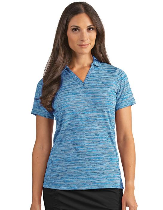 104149-62B - Women's Pixel Laguna Heather (Womens Shirts Polo)