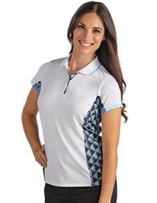 104150 - Women's Tiki White//Black/Frost (Womens Shirts Polo)