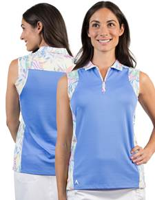 104153 - Women's Atlantis Laguna/White Multi (Womens Shirts Polo)