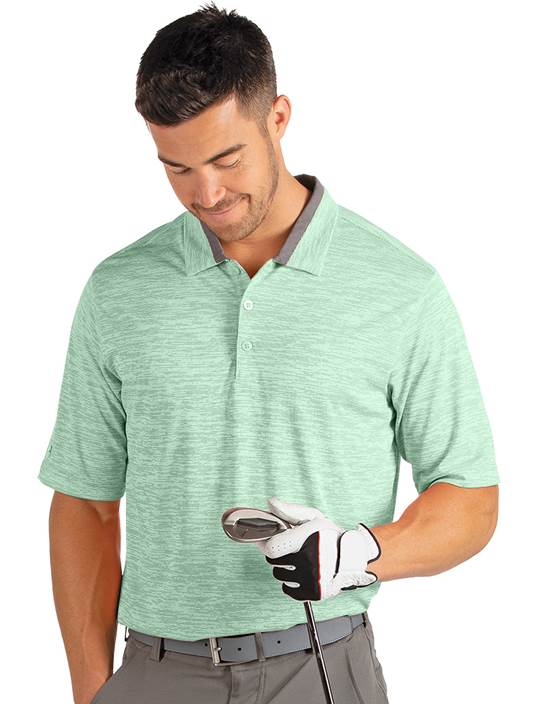 104162 - Nassau Peach/Bedrock (Mens Shirts Polo)