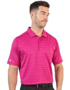 104165 - Boardwalk Radish/Rosewood Multi (Mens Shirts Polo)
