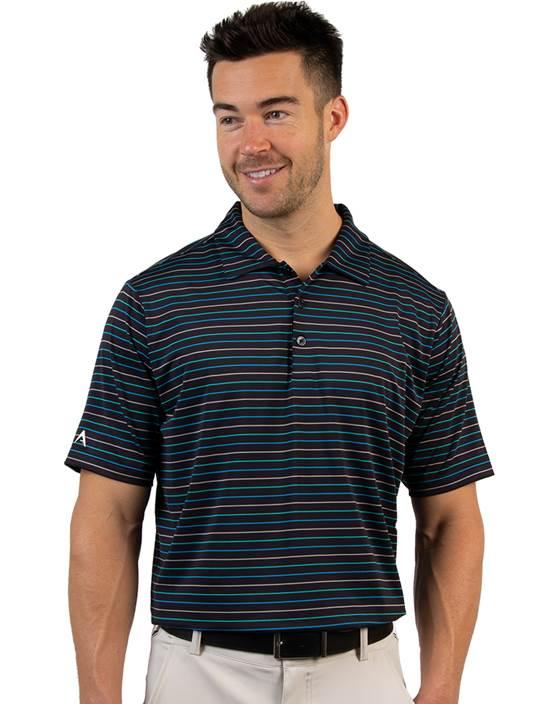 104167 - Cove Black/Bermuda Multi (Mens Shirts Polo)