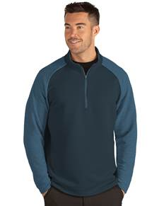 104188 - Lagoon Navy/Light Navy Heather (Mens Outerwear Pullover)