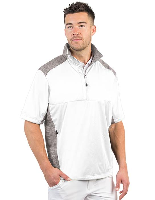 104192-32A - Barrier White/ Light Grey Heather (Mens Outerwear Pullover)