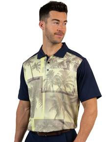 104194 - Dune Navy/Chardonnay Multi (Mens Shirts Polo)