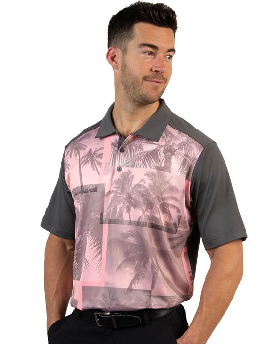 104194 - Dune Bedrock/Peach Multi (Mens Shirts Polo)