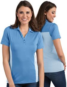 104200-390 - W's Venture Columbia Blue/White (Womens Shirts Polo)