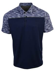 104217-35D - Final Play Navy/Stl/Navy Multi (Mens Shirts Polo)