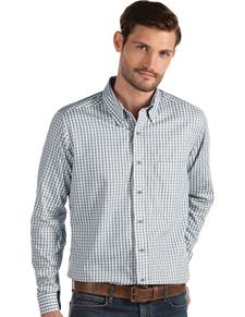 104227-102 - Structure Steel/White (Mens Shirts DressShirt)