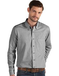 104227-185 - Structure Black/White (Mens Shirts DressShirt)