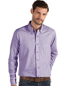 104227-481 - Structure Dark Purple/White (Mens Shirts DressShirt)