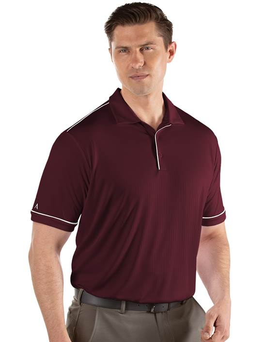 104228-156 - Salute Maroon/White (Mens Shirts Polo)