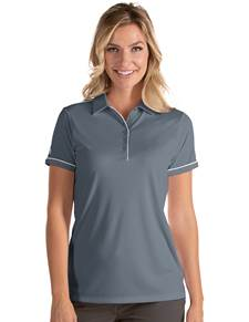 104234-102 - W's Salute Steel/White (Womens Shirts Polo)