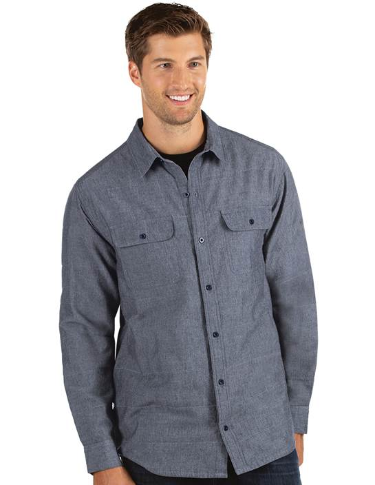 104240-181 - Official Navy/White (Mens Shirts DressShirt)