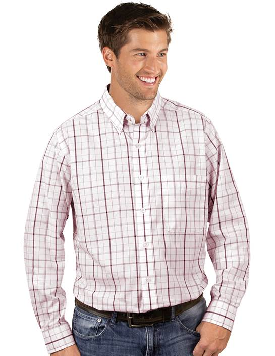 104245-156 - Keen Maroon/White (Mens Shirts DressShirt)