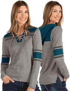 104250-49E - W's Wrestle Dark Grey Heather/Deep Teal (Womens Outerwear Pullover)