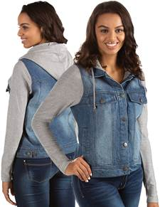 104253-60E - Women's Swag Light Indigo/Grey Heather