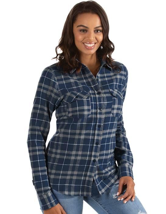 104255-165 - W's Stance Navy/Grey/White (Womens Shirts DressShirt)