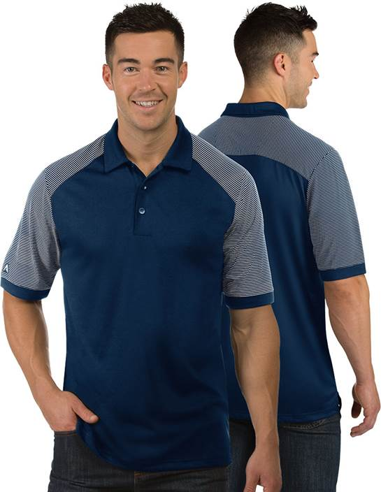 104258-181 - Engage Tall Navy/White (Mens Shirts Polo)