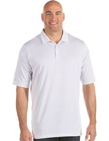 104259-224 - Quest Tall White/Silver (Mens Shirts Polo)