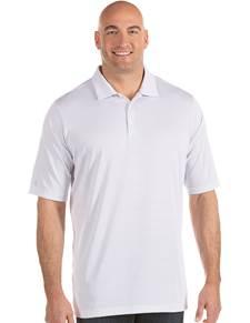 104259-224 - Quest Tall White/Silver (Mens Shirts Polo)