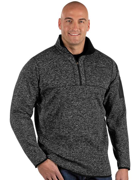 104261-094 - Fortune Tall Black Heather (Mens Outerwear Pullover)