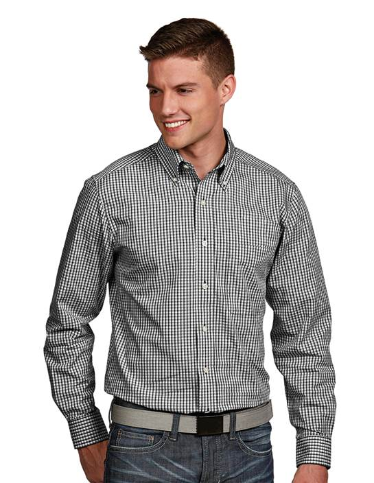 104262-201 - Associate Tall Black Multi (Mens Shirts DressShirt)
