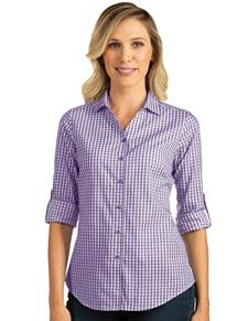104266-481 - W's Structure Dark Purple/White (Womens Shirts DressShirt)