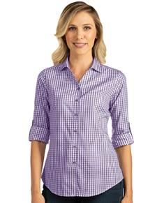 104266-481 - W's Structure Dark Purple/White (Womens Shirts DressShirt)