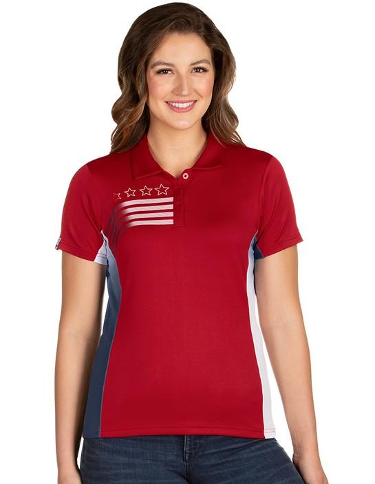 104274 - Liberty Womens Dark Red/White/Navy