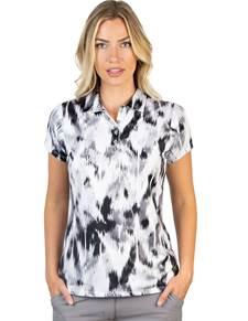 104307-201 - W's Opal Black Multi (Womens Shirts Polo)