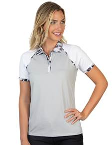 104308-81F - W's Futura Black Multi/White (Womens Shirts Polo)