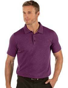 104317-92G - Fade Dark Plum Heather (Mens Shirts Polo)