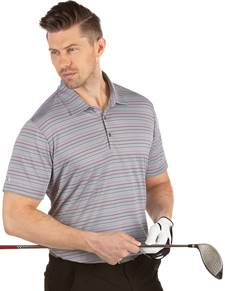 104325-66G - Draw Medium Cinder/Plum Multi (Mens Shirts Polo)