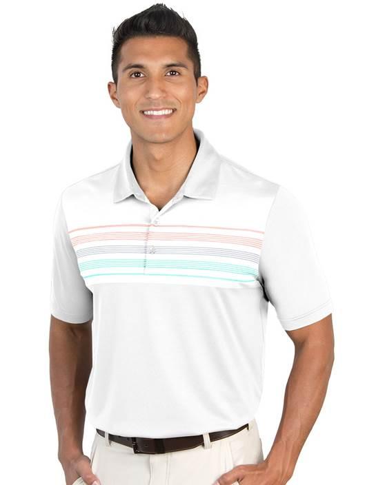 104329-73G - Tucson White/Cinder Multi (Mens Shirts Polo)