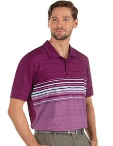 104330-76F - Dusk Plum Heather Multi (Mens Shirts Polo)
