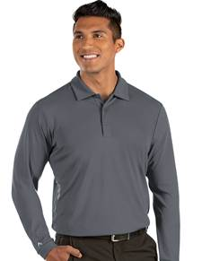 104331-51F - L/S Tribute Dark Cinder (Mens Shirts Polo)