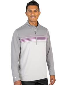 104337-66G - Shift Medium Cinder/Plum Multi (Mens Outerwear Pullover)