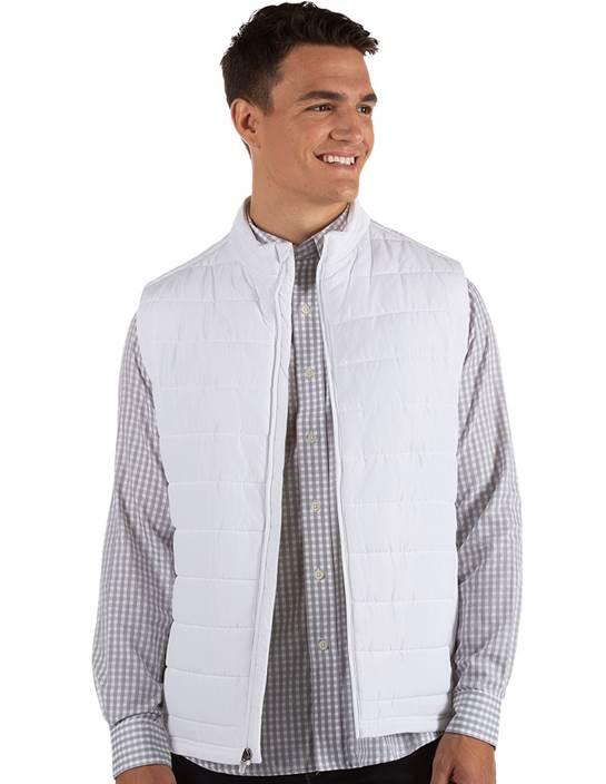 104339-001 - Atlantic Vest White (Mens Outerwear Vest)