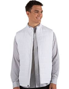 104339-001 - Atlantic Vest White (Mens Outerwear Vest)