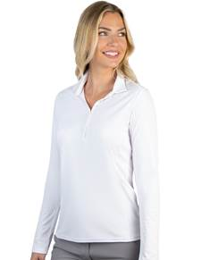 104354-001 - W's L/S Tribute White (Womens Shirts Polo)