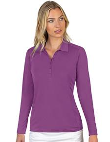 104354-57F - W's L/S Tribute Medium Plum (Womens Shirts Polo)