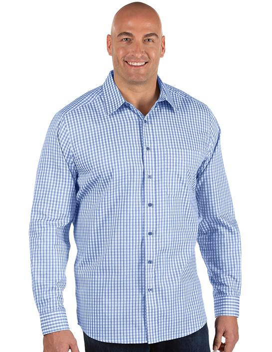 104355-347 - Structure Tall Dark Royal/White (Mens Shirts DressShirt)