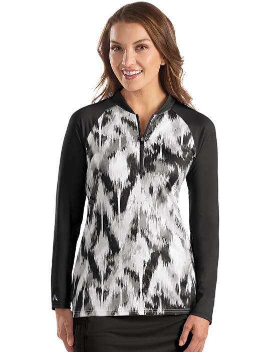 104356-201 - W's Escapade Black Multi (Womens Shirts Polo)