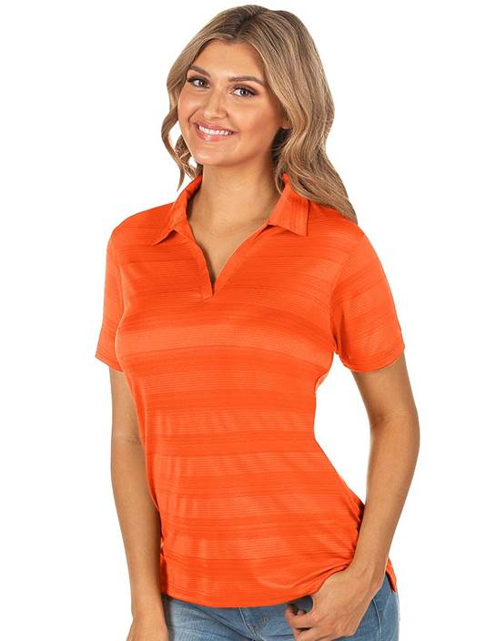 104365-987 - W's Compass Mango Multi (Womens Shirts Polo)