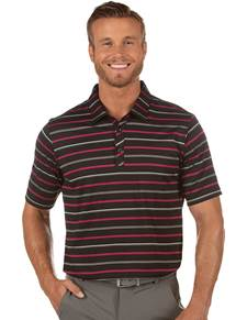 104378-01I - Triumph Black/Pinot/Skyscraper (Mens Shirts Polo)
