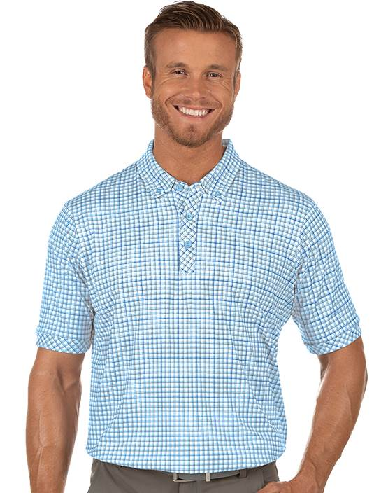 104381-41I - Expert White/Mystic/Stingray (Mens Shirts Polo)