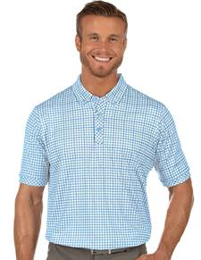 104381-41I - Expert White/Mystic/Stingray (Mens Shirts Polo)